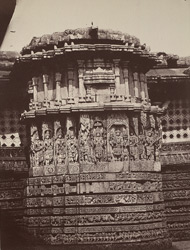 Hullabeed. The Great Temple. The pavilion in the centre of the east front. [Hoysaleshwara Temple, Halebid.]